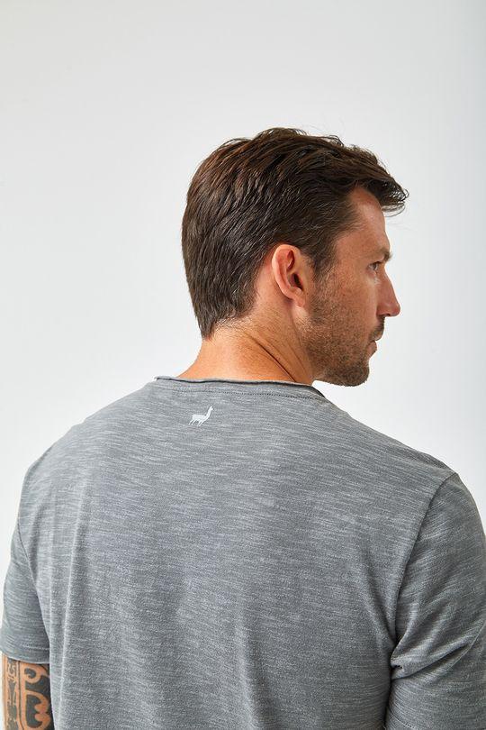 Camiseta-Lhama-Xadrez---Chumbo