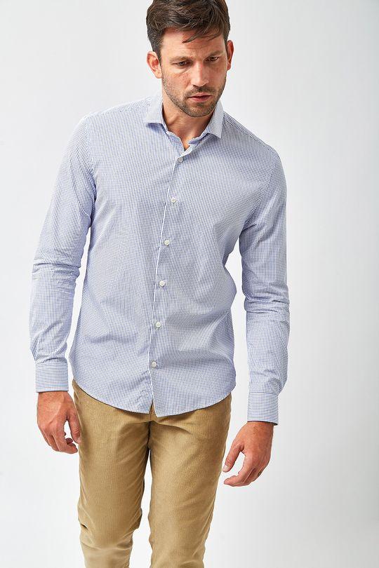 Camisa-Luiz-Quadriculado---Branco-e-Azul