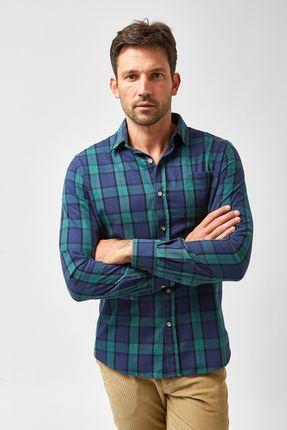 Camisa-Flanela-Tartan---Marinho-e-Verde