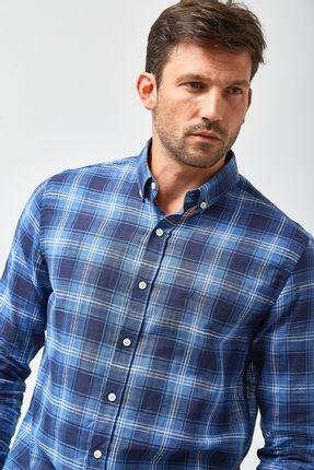 Camisa-Xadrez-Leve---Azul