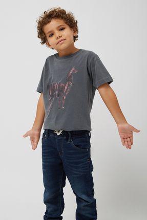 Camiseta-Lhama-Xadrez-Boys---Chumbo