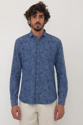Camisa-Frankie-Jacquard-Floral---Indigo