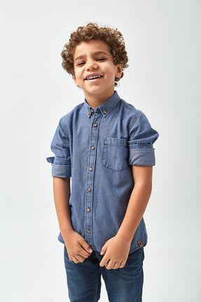 Camisa Jeans Listrada Boys - Indigo