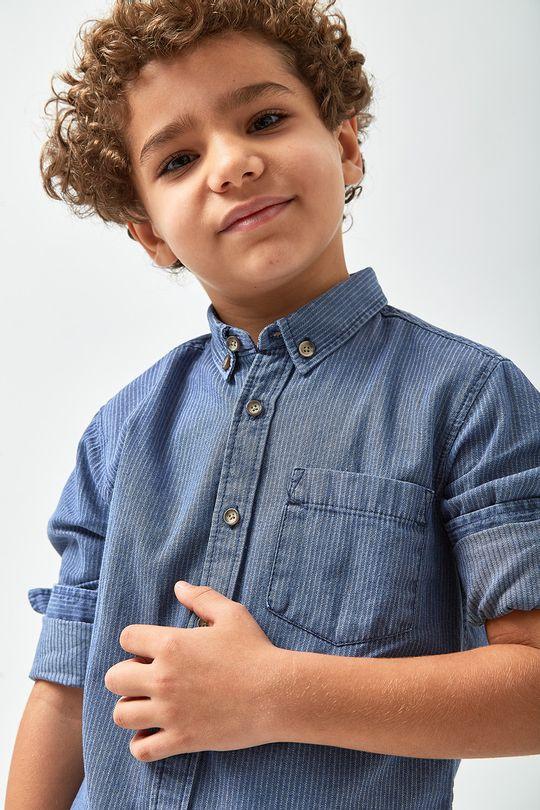 1b0206ab7c Camisa Jeans Listrada Boys - Indigo - Zapalla