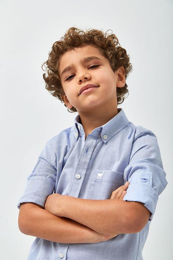 Camisa-Oxford-Boys---Azul