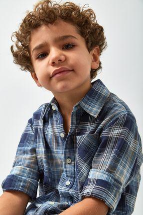 Camisa-Xadrez-Leve-Boys---Marinho