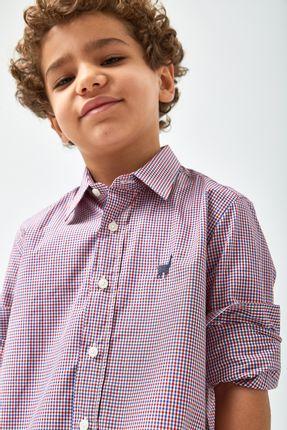 Camisa-Vichy-Bicolor-Boys---Azul-Vermelho-e-Branco