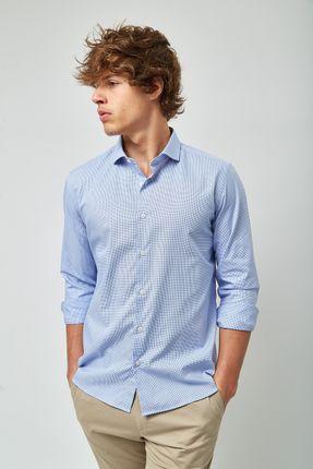 Camisa-Gola-Italiana-Maquinetada---Azul-e-Branco