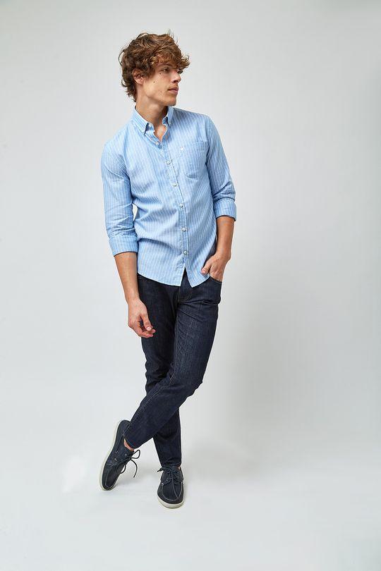 Camisa-Oxford-Listradinha---Azul-e-Branco
