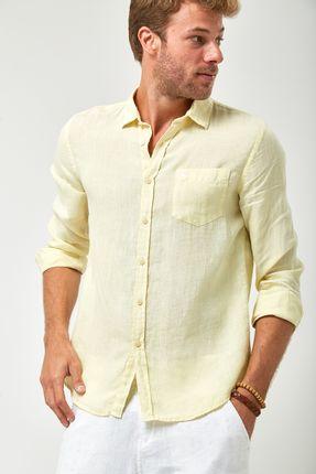 Camisa-Linho-100----Amarelo