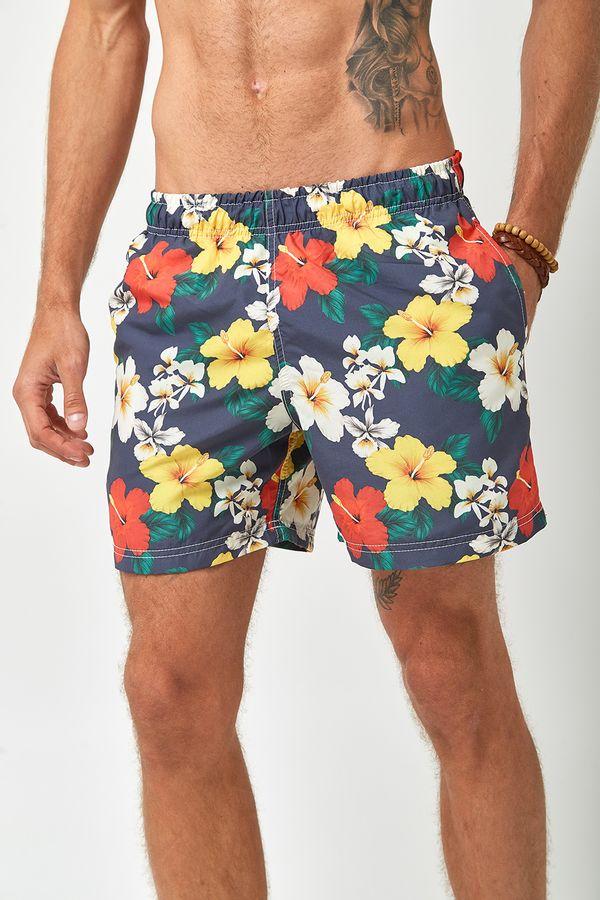 Shorts-Hibisco-Colorido---Estampado