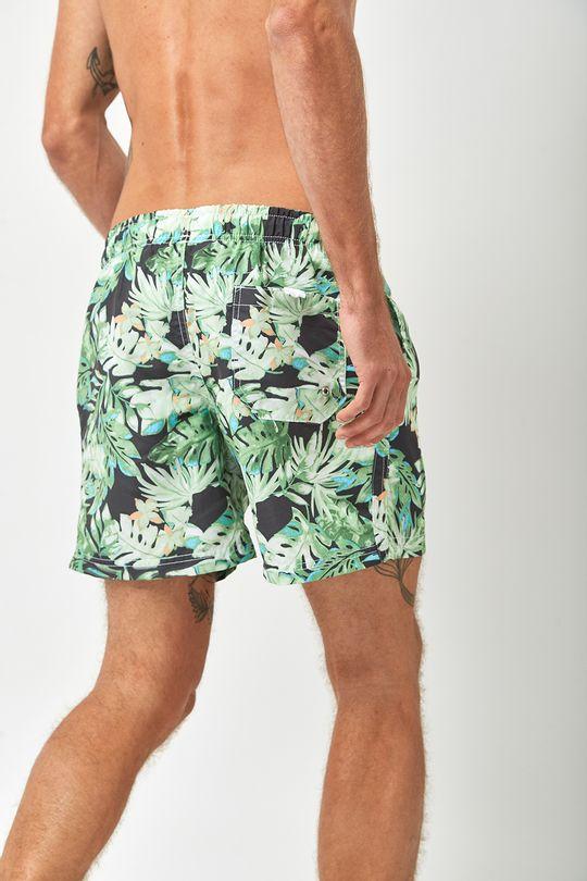 Shorts-Folhagem-Escuro---Estampado