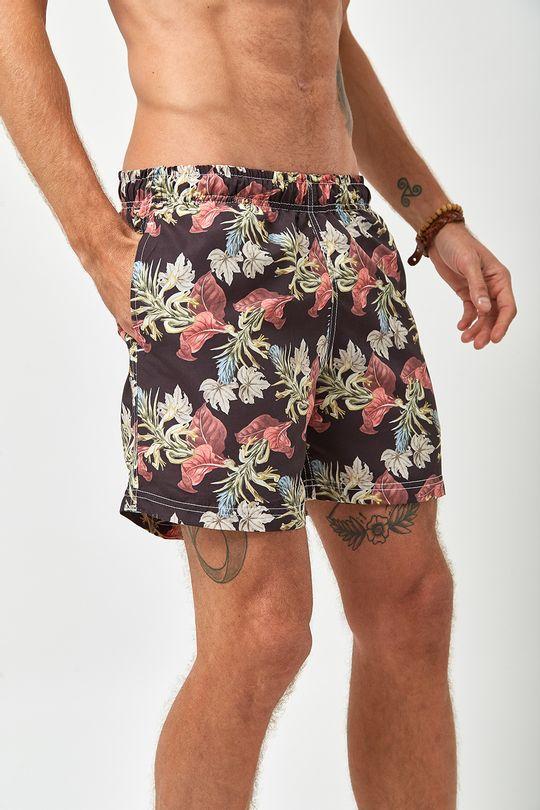 Shorts-Floral-Escuro---Estampado