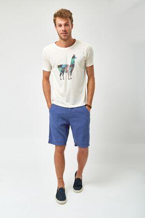 Camiseta-Lhama-Pixel---Cru