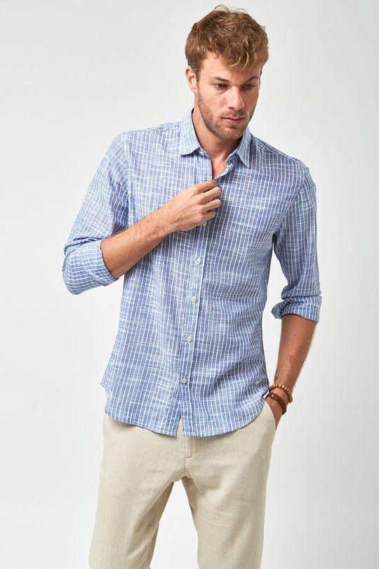 Camisa-Listrada-Leve---Marinho-e-Branco