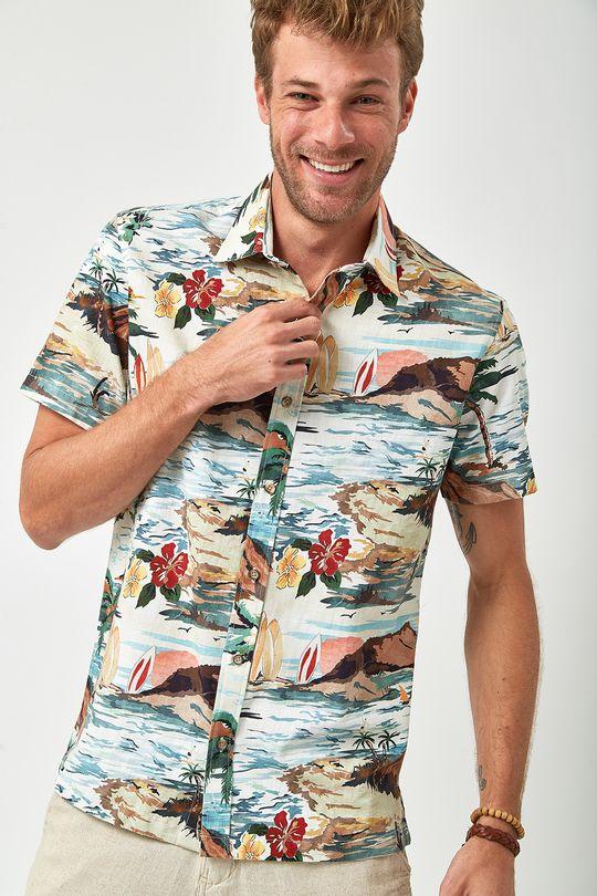 c57d013a2ee Camisa MC Estampa Havaiana - Estampada - Zapalla