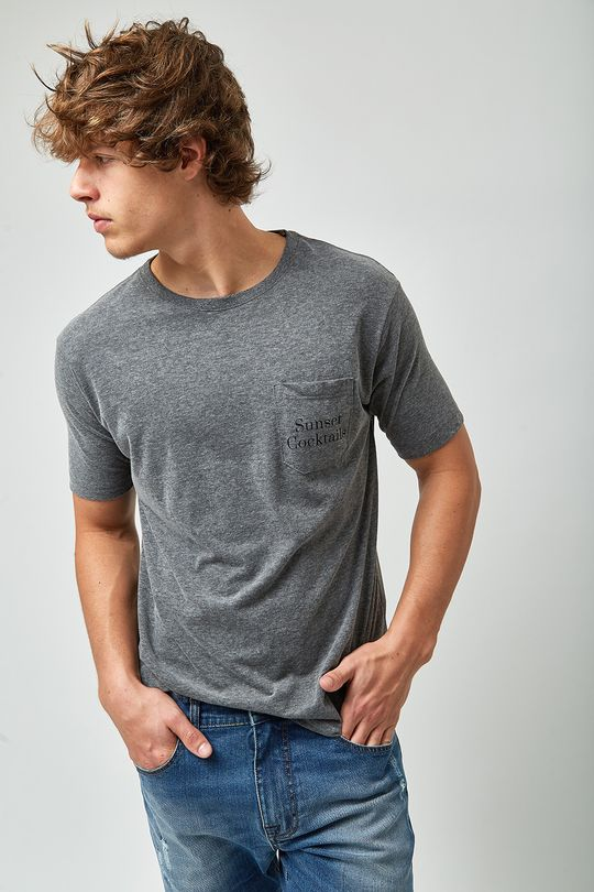 Camiseta-Sunset-Cocktails---Cinza-Mescla