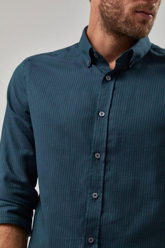 Camisa-Oxford-Listrada---Marinho-E-Verde