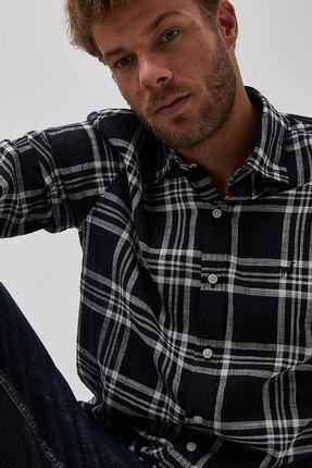 Camisa-Maxi-Xadrez-Leve---Preto