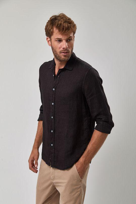 Camisa-Linho---Preto