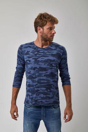 Tricot-Pull-Camuflado---Azul