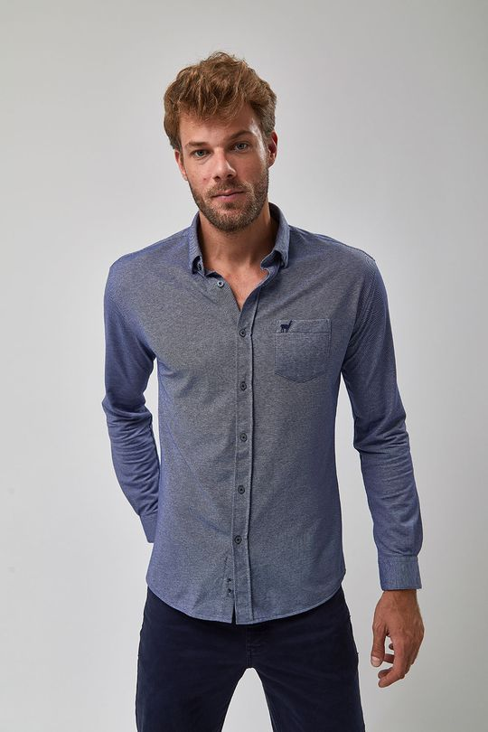eefcc7b932 Camisa De Malha - Indigo - Zapalla