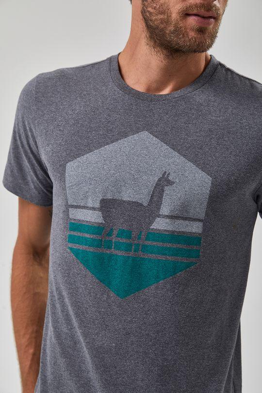 Camiseta-Lhama-Vazada---Mescla-Escuro