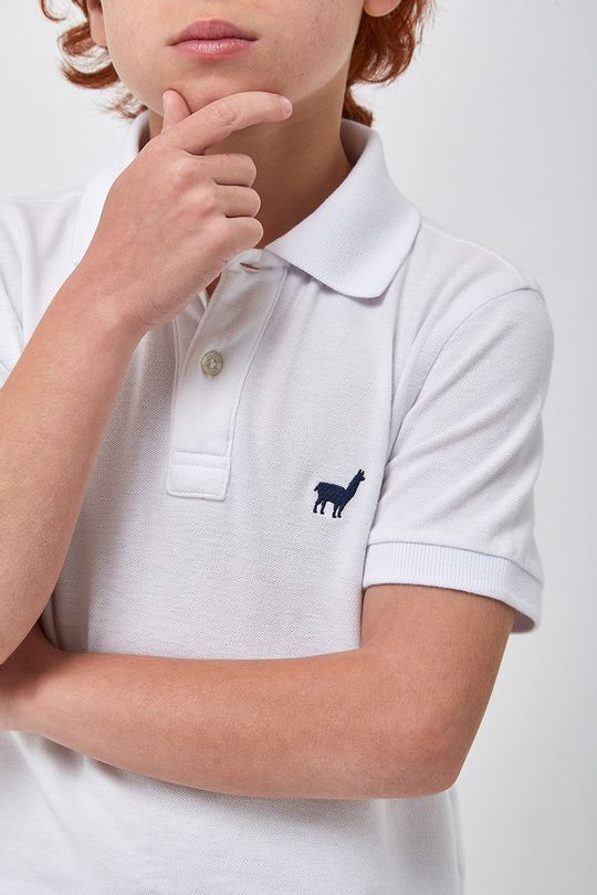 Polo-Lhama-Stretch-Boys---Branco---Tamanho-2