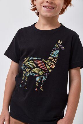 Camiseta-Lhama-Colors-Boys---Preto---Tamanho-6