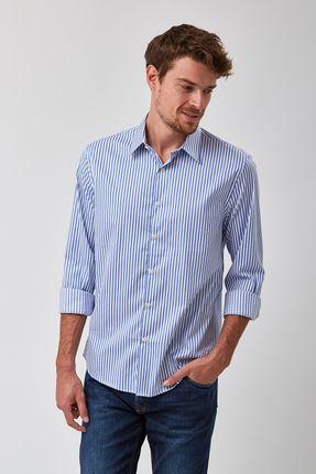 Camisa-Listrada-Clara---Branco-Com-Azul---Tamanho-GG