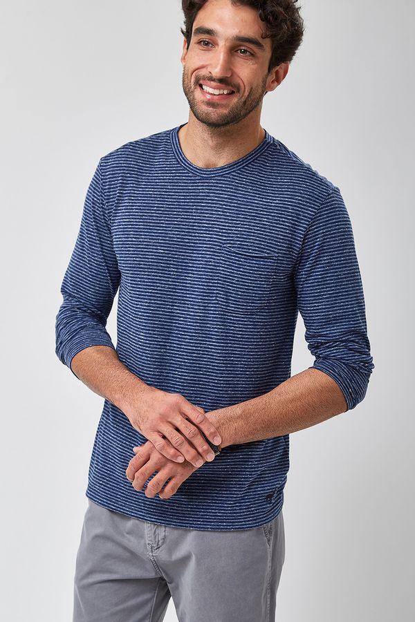 Camiseta-ML-Listra-Mescla---Marinho---Tamanho-M