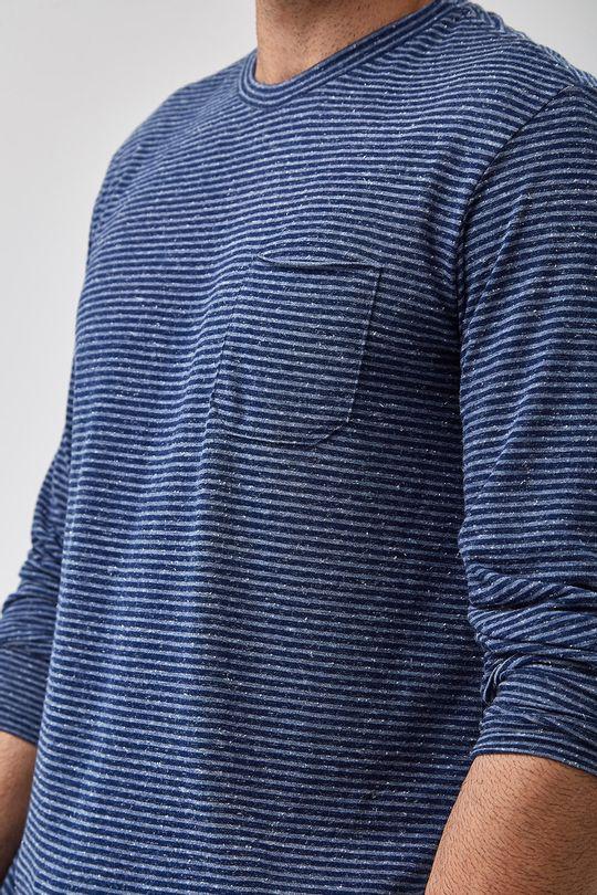 Camiseta-ML-Listra-Mescla---Marinho---Tamanho-P