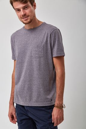 Camiseta-Eco-Botone-Mescla---Cinza---Tamanho-GG