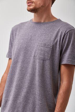 Camiseta-Eco-Botone-Mescla---Cinza---Tamanho-M