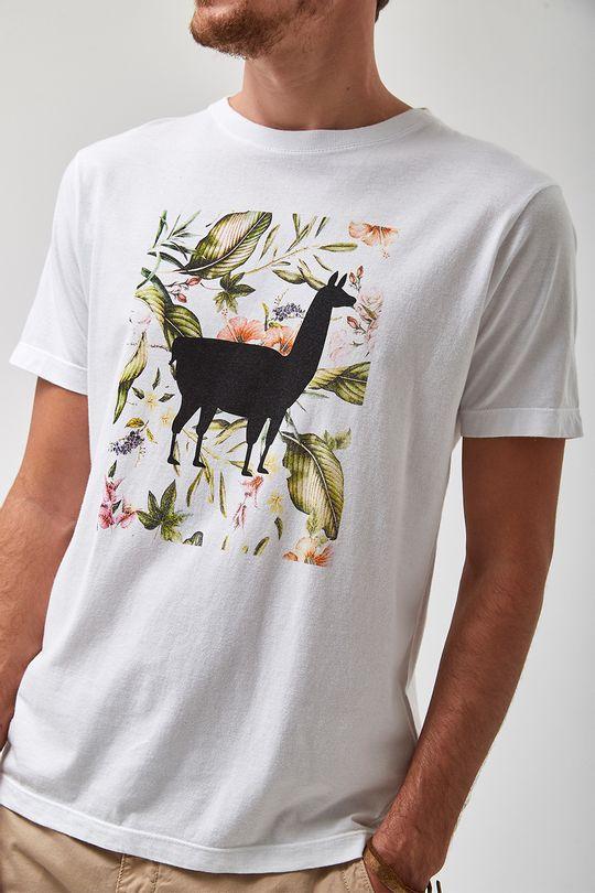 Camiseta-Lhama-Folhagem---Branco---Tamanho-P
