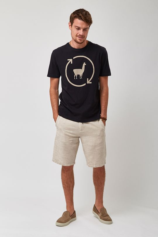 Camiseta-Lhama-Eco---Preto---Tamanho-P