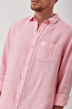 Camisa-100--Linho-Tinturado---Rosa---Tamanho-P