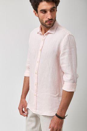 Camisa-100--Linho-Mescla---Rosa---Tamanho-P