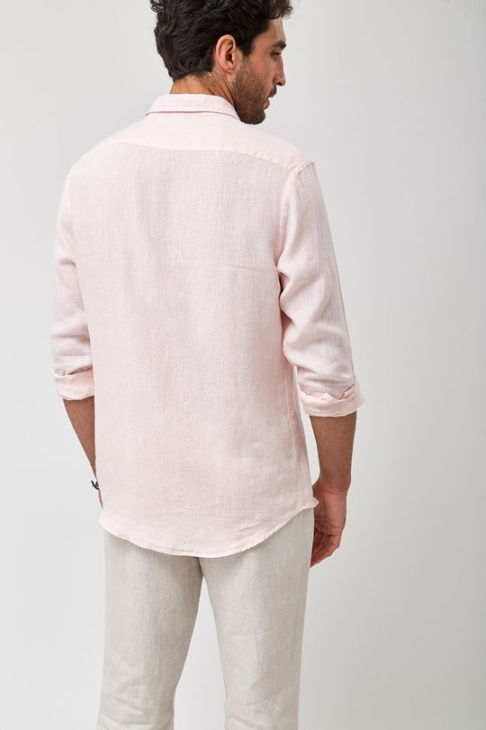 Camisa-100--Linho-Mescla---Rosa---Tamanho-GG