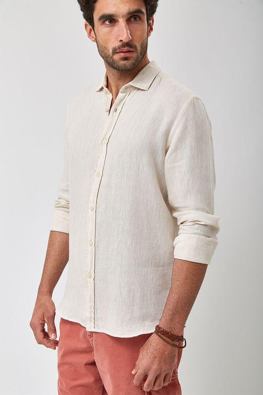 Camisa-100--Linho-Mescla---Cru---Tamanho-P