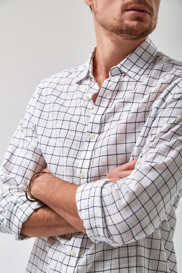 Camisa-Quadrados-Leve---Branco---Tamanho-P
