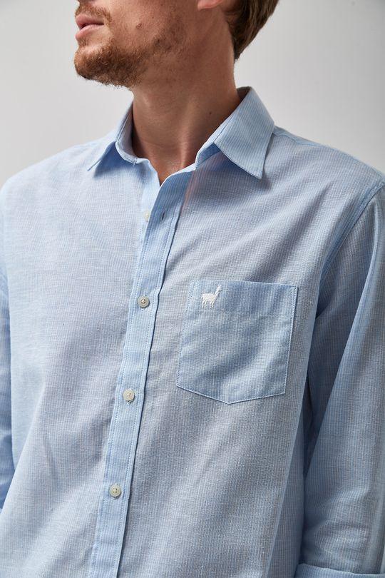 Camisa-Linho-Misto-Listradinha---Azul---Tamanho-P