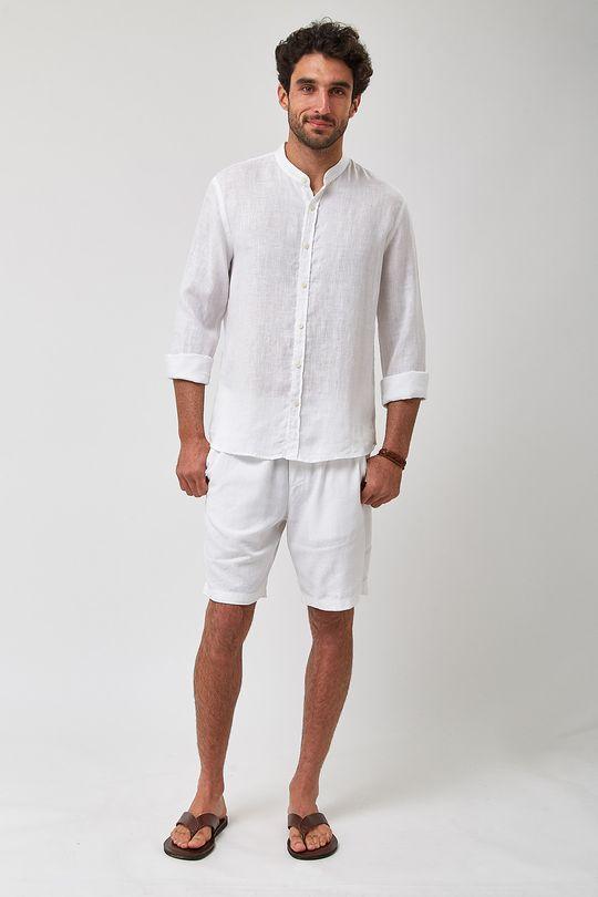 Camisa-Gola-Padre-100--Linho---Branco---Tamanho-P