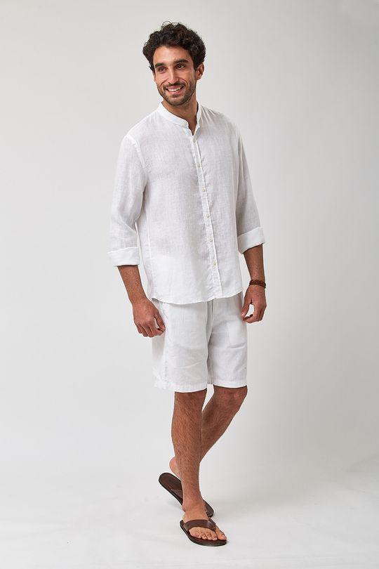 Camisa-Gola-Padre-100--Linho---Branco---Tamanho-M