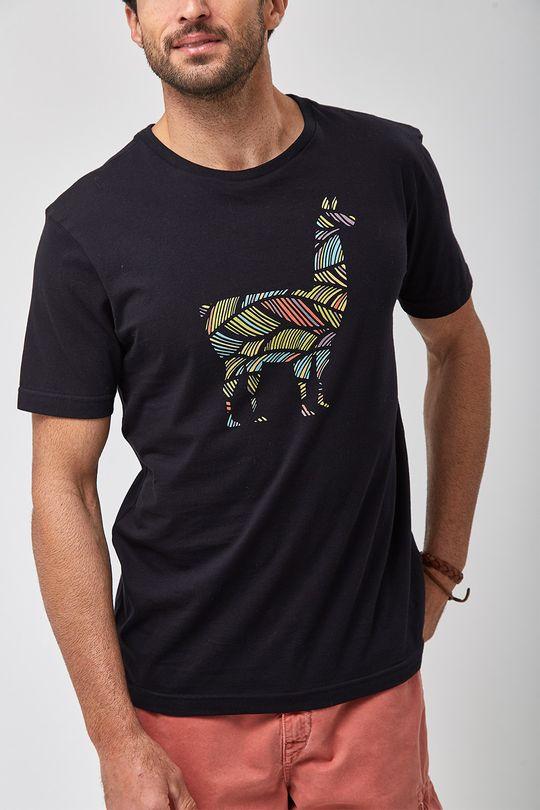 Camiseta-Lhama-Colors---Preto---Tamanho-M