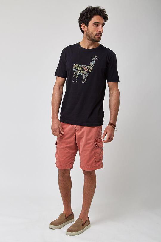 Camiseta-Lhama-Colors---Preto---Tamanho-P