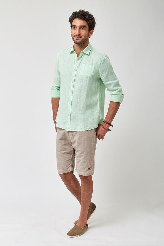 Camisa-100--Linho-Tinturado---Verde-Limao---Tamanho-P