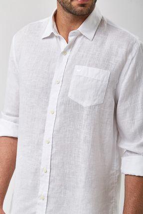 Camisa-100--Linho-Tinturado---Branco---Tamanho-P