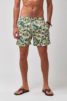 Shorts-Abacate---Estampado---Tamanho-M