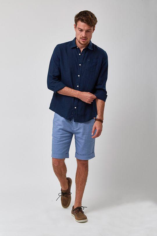 Bermuda-Linho-Alfaiataria---Azul-Jeans---Tamanho-38